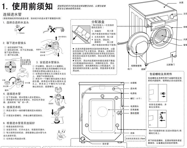 海尔xqg100-hbx12288洗衣机使用说明书