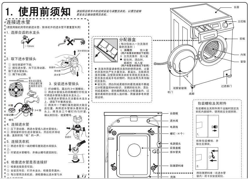 海尔xqg60-bx1028a洗衣机使用说明书