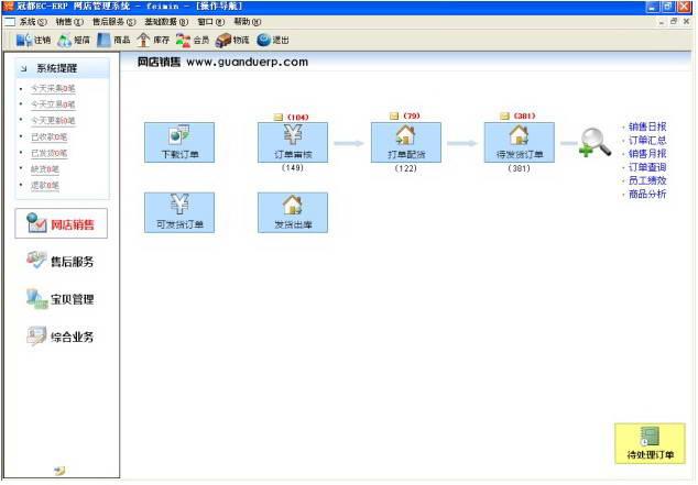 冠都EC-ERP电商管理软件