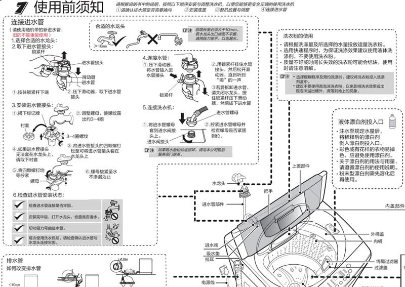 海尔统帅tqb65-l9188 am洗衣机使用说明书