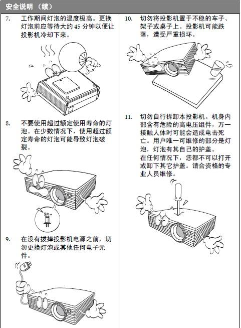明基mp726投影仪使用说明书