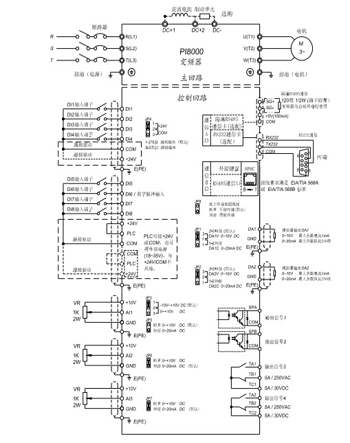 普传pi8100037g3变频器使用说明书
