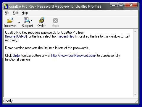 Quattro Pro Key