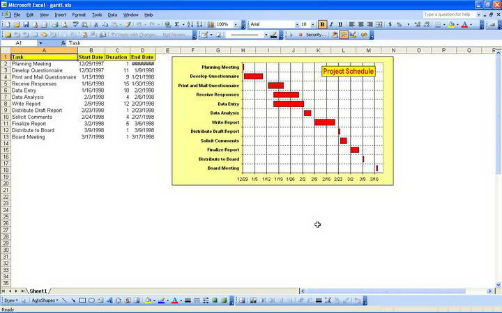Gantt Chart Builder (Excel)