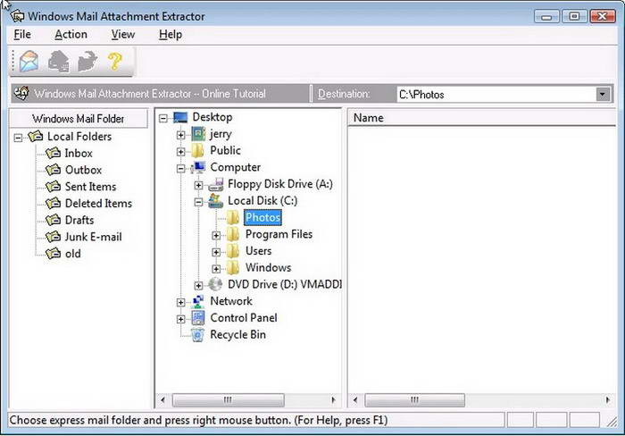 Outlook Picture Extractor