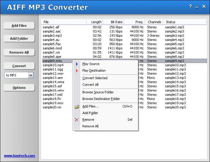hootech AIFF MP3 Converter