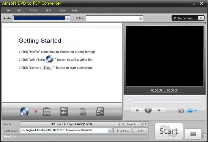 Ainsoft DVD to PSP Converter