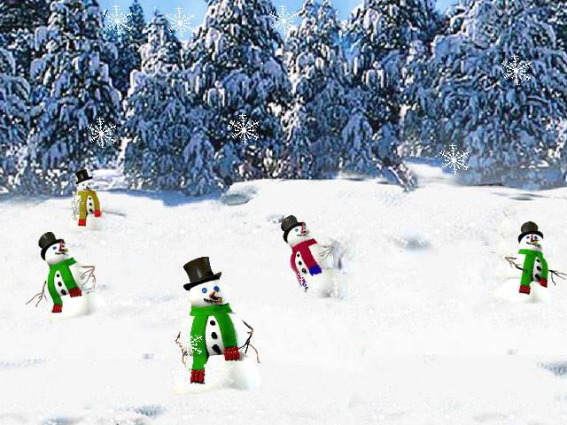 3D Dancing Snowmen