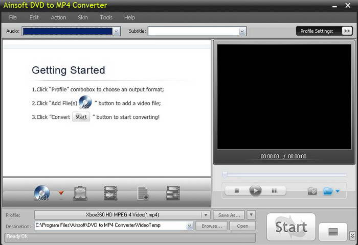 Ainsoft DVD to MP4 Converter