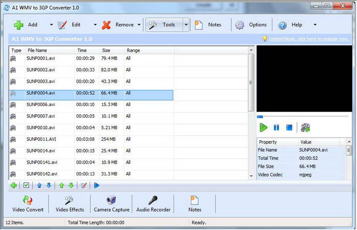 A1 WMV to 3GP Converter