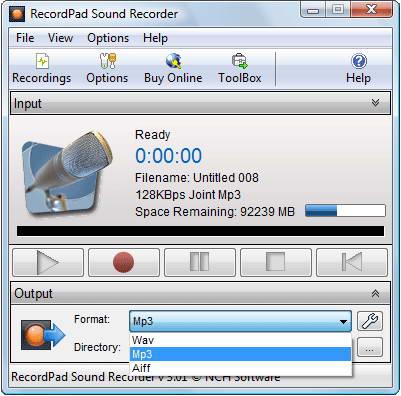 RecordPad Sound Recording