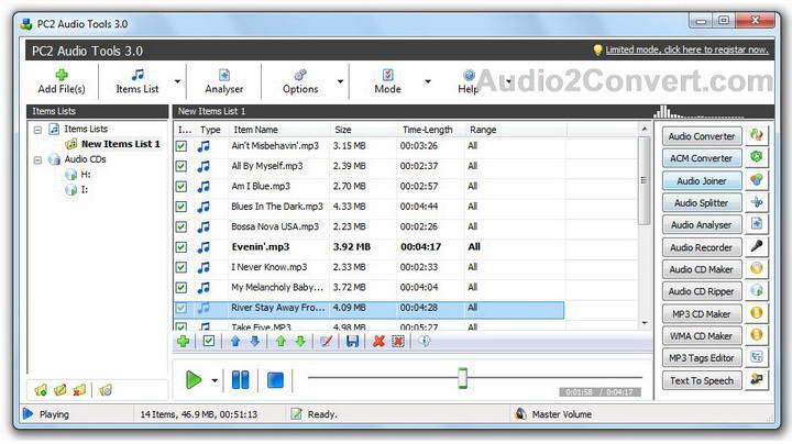 PC2 Audio Tools