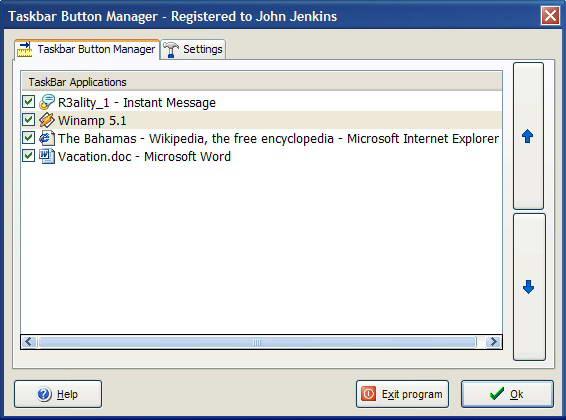Taskbar Button Manager