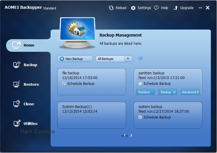 AOMEI Backupper Linux Bootable Disc For Linux