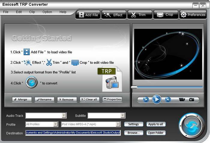 Emicsoft TRP Converter