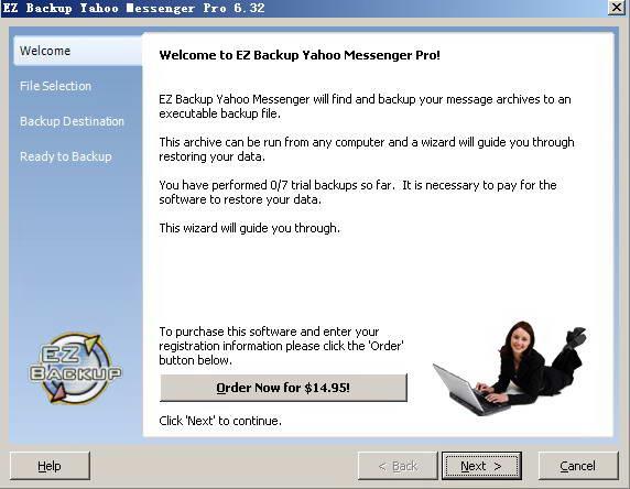 EZ Backup Yahoo Messenger Pro