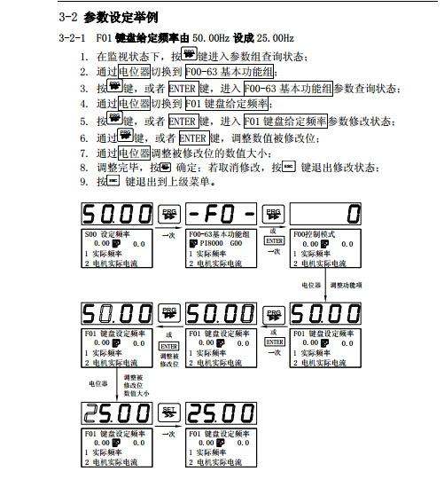 普传pi8100110g3变频器使用说明书
