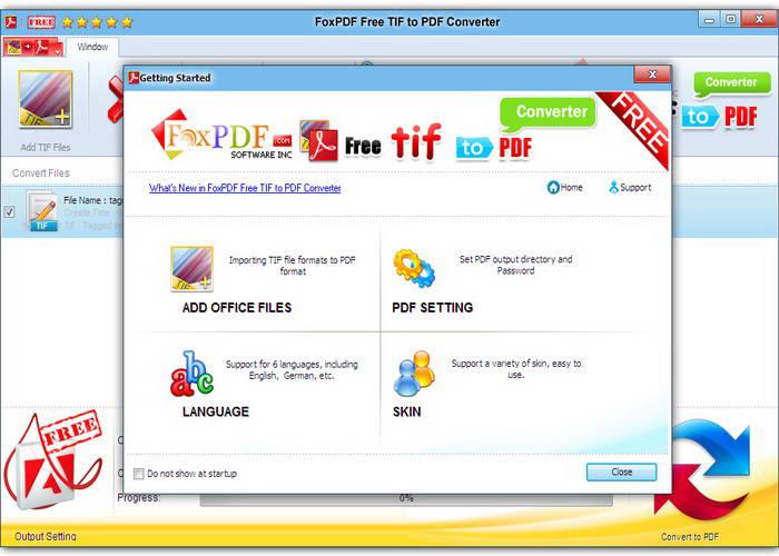 免费TIF转换到PDF转换器