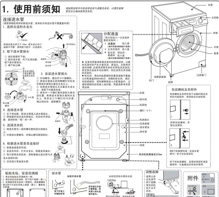 海尔xqg90-bx12288a洗衣机使用说明书官方下载|海尔