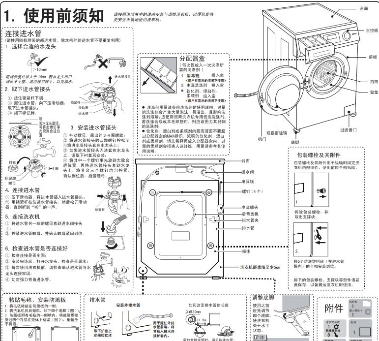 海尔xqg90-x12288a洗衣机使用说明书