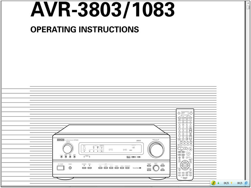 天龙avr-3803avsurroundreceiver说明书