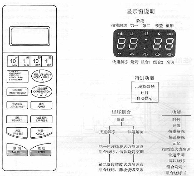 格兰仕wd900al23-4微波炉说明书