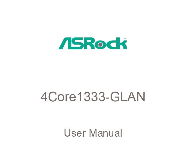 华擎4Core1333-GLAN主板英文版说明书