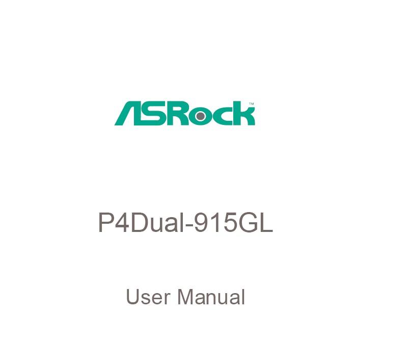 华擎P4Dual-915GL主板英文版说明书