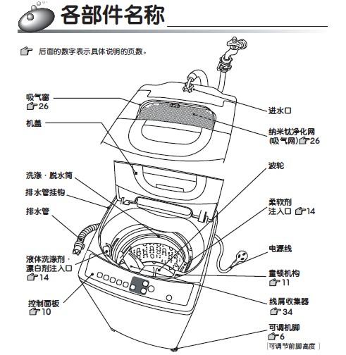 日立xqb50-fy自动洗衣机说明书