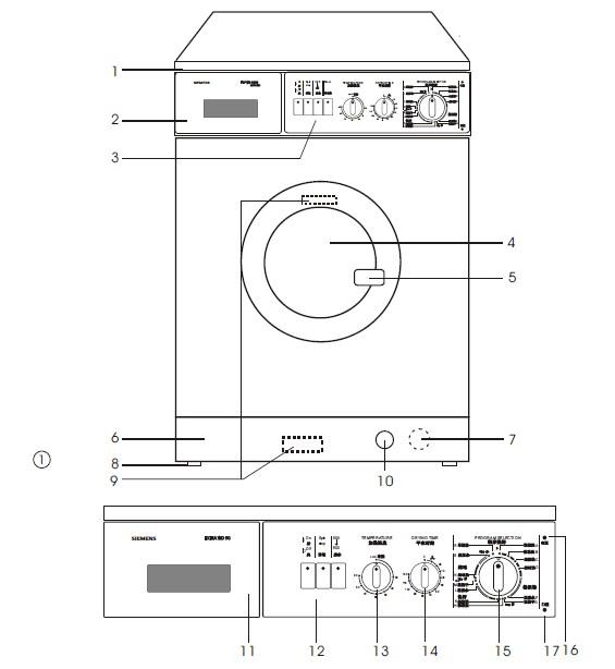 西门子extra wd90 洗衣机说明书