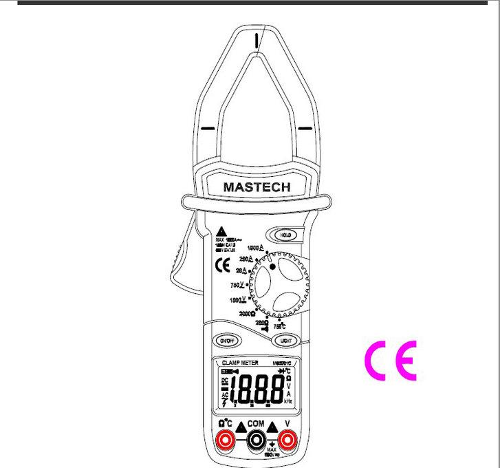 华谊MS2001-C-F数字钳形表使用说明书