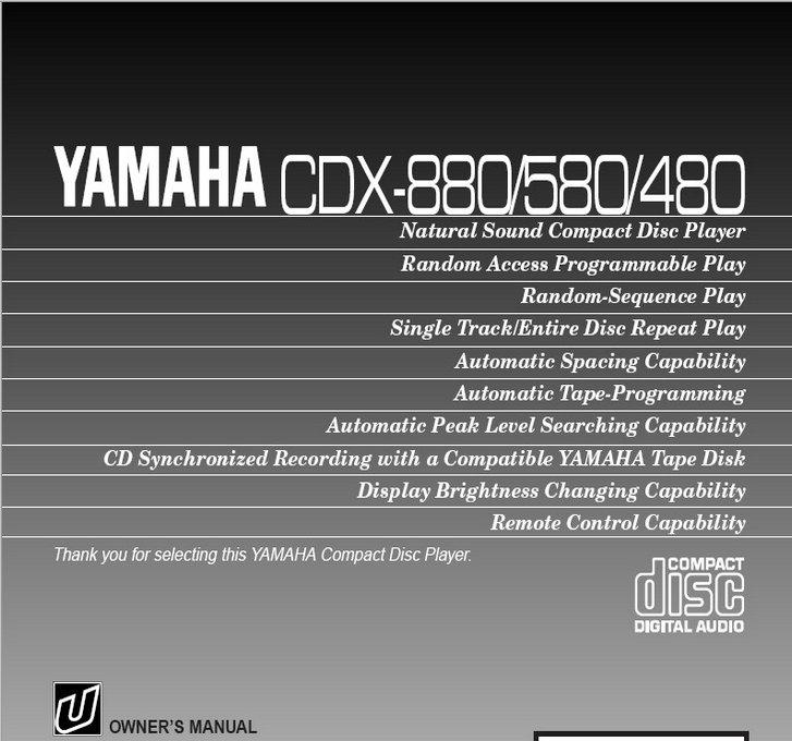 雅马哈CDX-480英文说明书