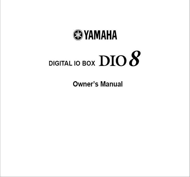 雅马哈DIO8说明书