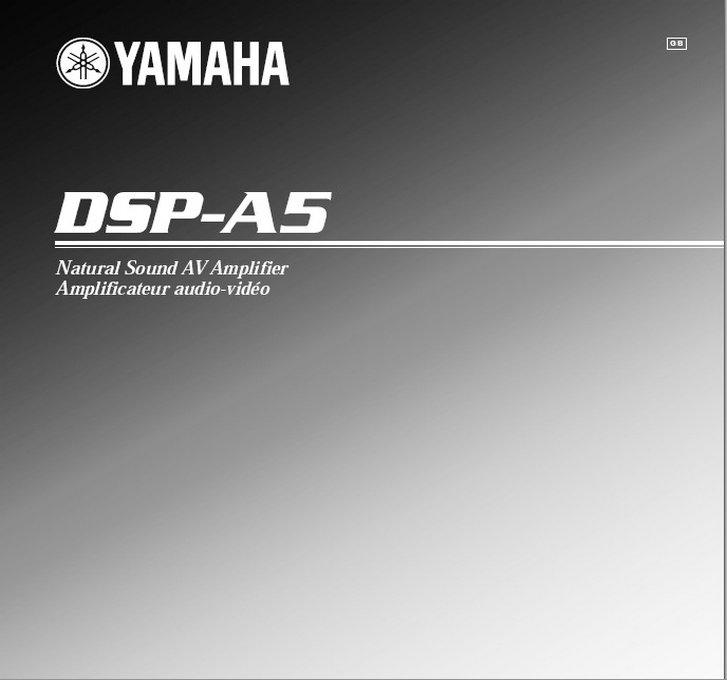 雅马哈dsp-a5英文说明书