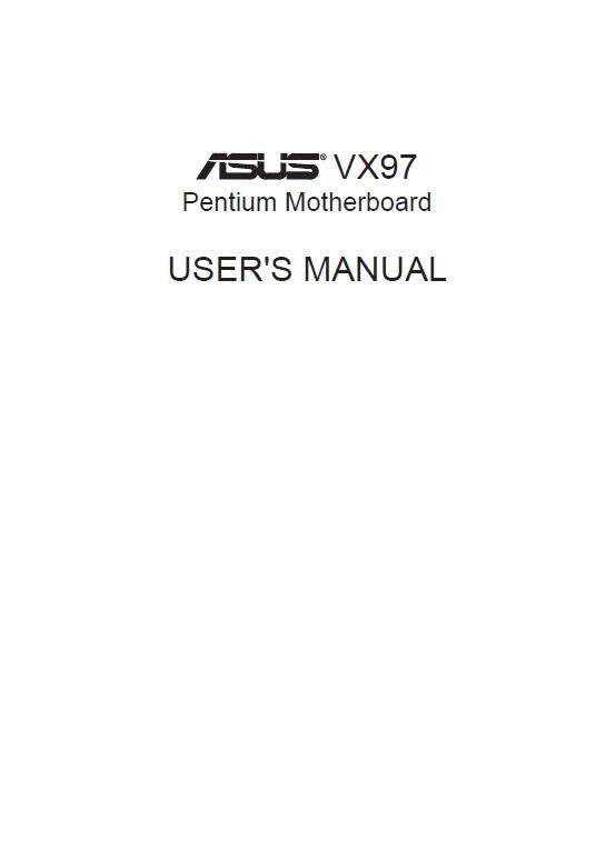 华硕 VX97型主板 英文说明书