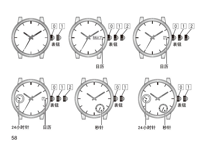 西铁城np3000-54a机械男士手表说明书图片