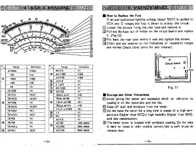三和yx-360trf指针式万用表使用说明书