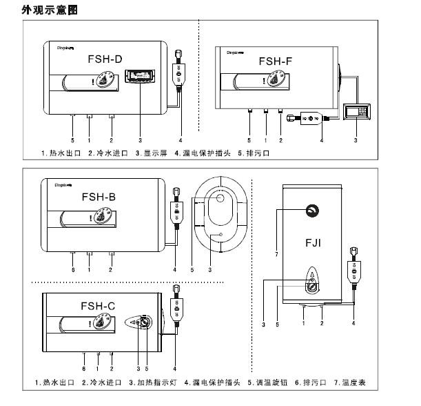 鼎新fsh-60c电热水器使用说明书