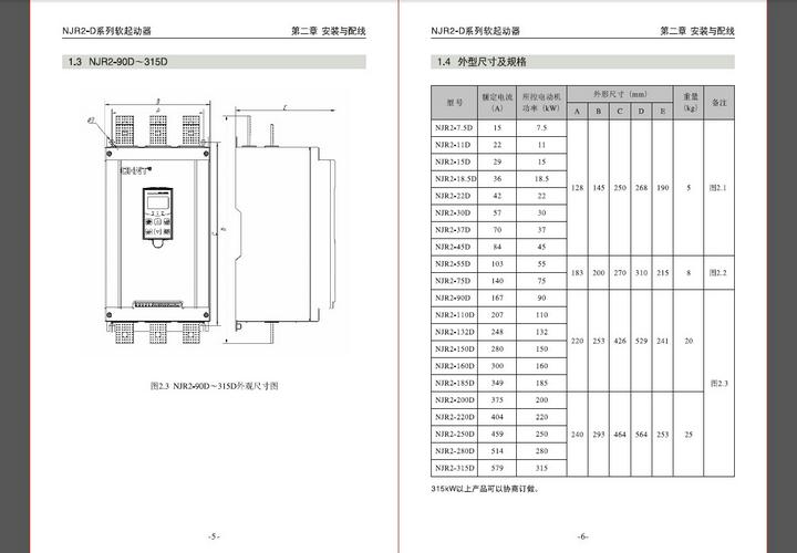 正泰NJR2-7.5D软起动器使用说明书