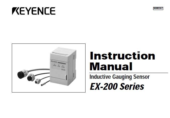 基恩士 EX-210涡电流位移传感器 说明书