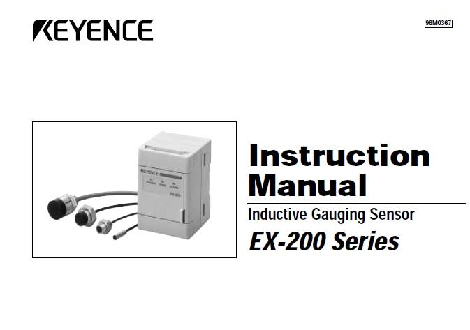 基恩士 EX-422涡电流位移传感器 说明书