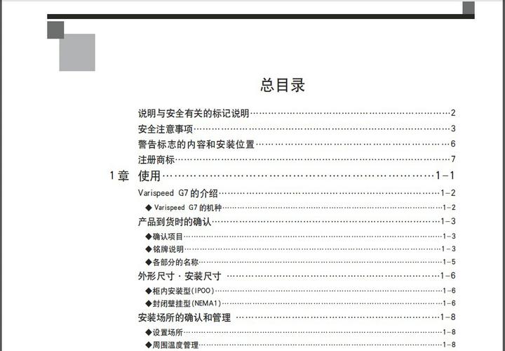 安川CIMR-G7A21P5型变频器说明书