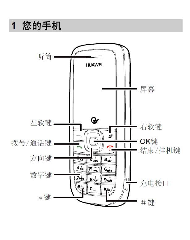 华为c2809手机使用说明书