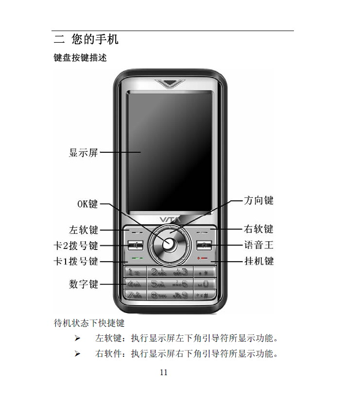 华唐 VT-V88手机 使用说明书