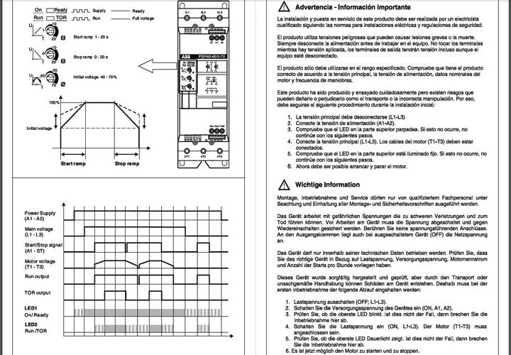 ABB软起动器PSR85英文使用说明书