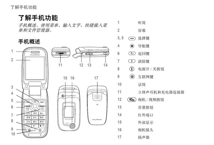 索尼爱立信z520c手机使用说明书