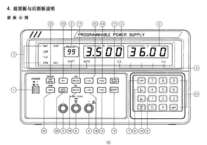 PPS-1860可编程线性直流电源使用说明书