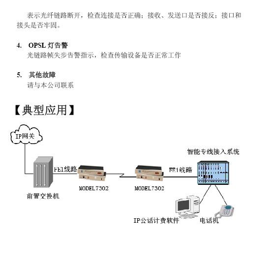 三旺model7302单fe1光纤modem说明书