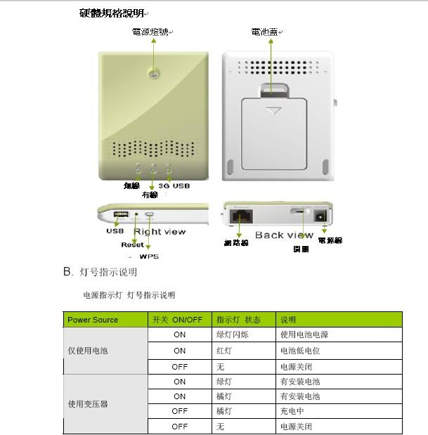 CDM530AM/530 3G无线路由器的中文使用手册