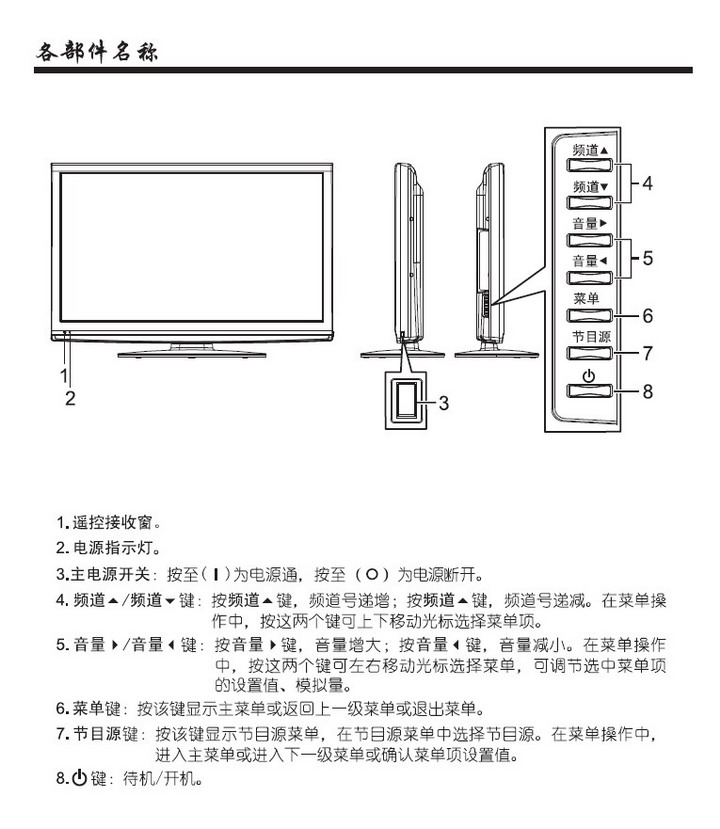 夏华 LE-42MW68数字液晶电视 使用说明书